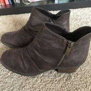 Never worn, brown booties